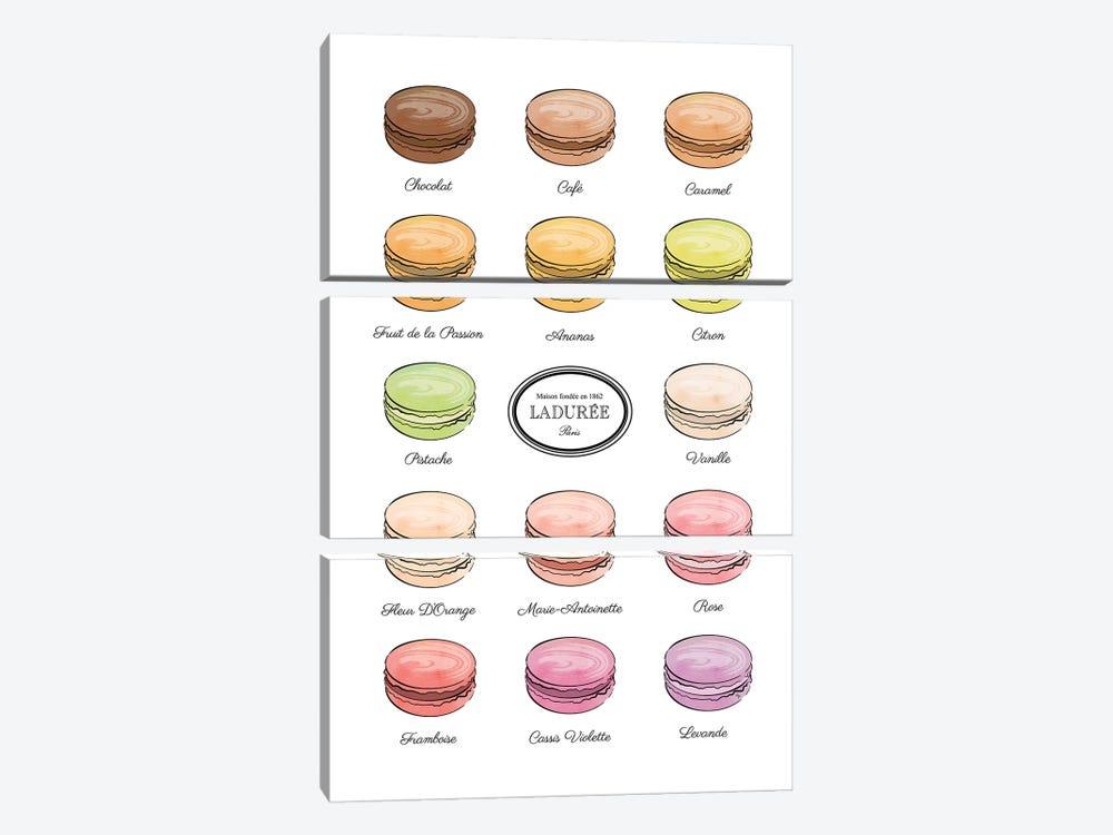 Laduree Macarons by Martina Pavlova 3-piece Art Print