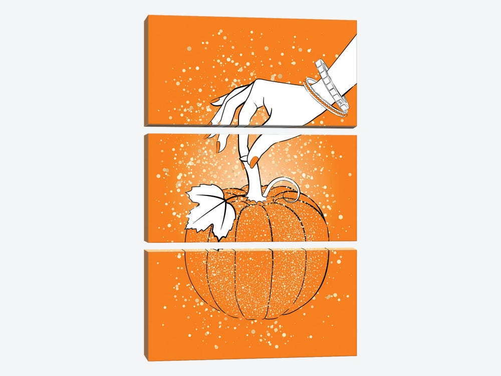 Orange Pumpkin by Martina Pavlova 3-piece Canvas Art