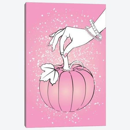 Pink Pumpkin Canvas Print #PAV728} by Martina Pavlova Canvas Art