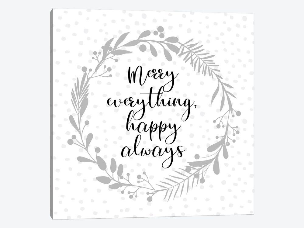 Merry Everything by Martina Pavlova 1-piece Canvas Artwork