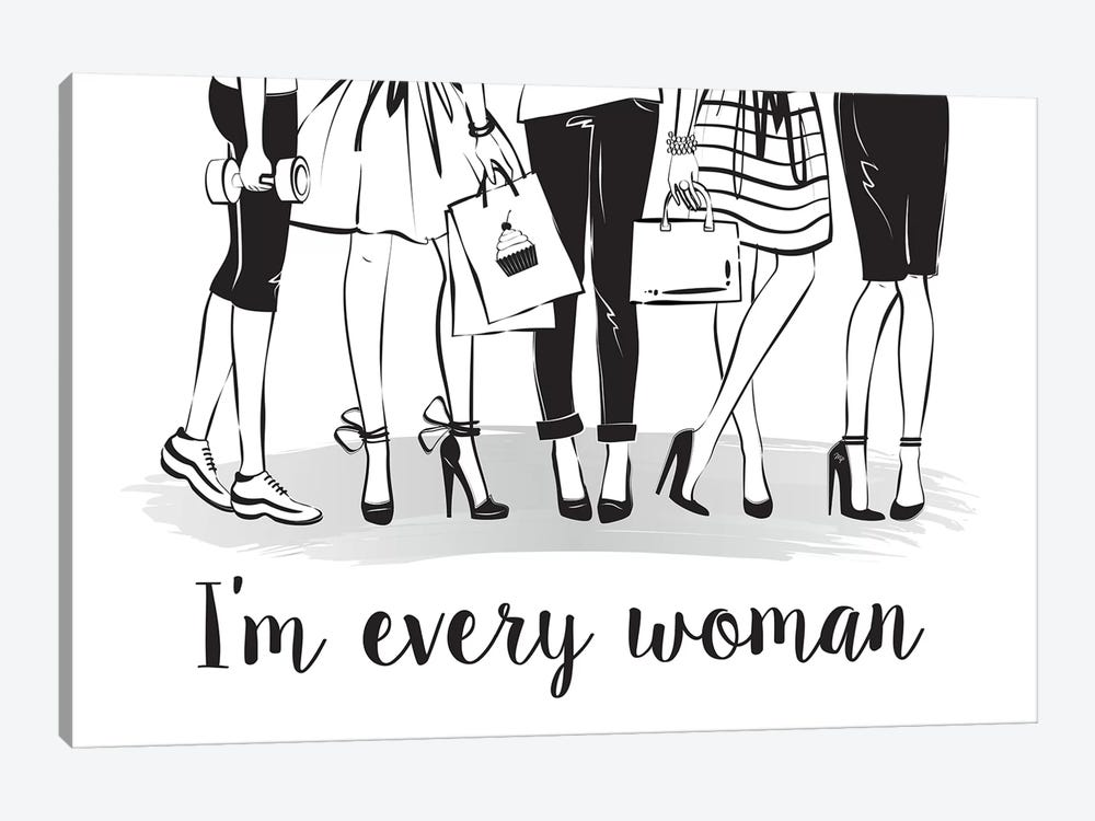 Every Woman 1-piece Canvas Art