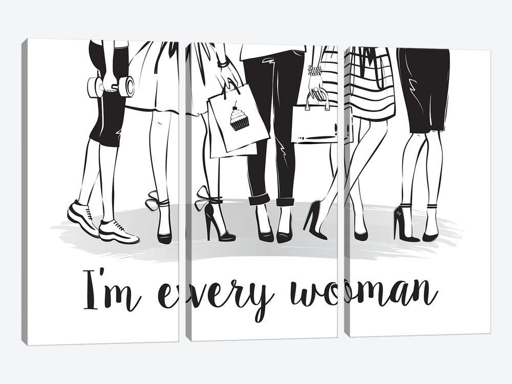 Every Woman by Martina Pavlova 3-piece Canvas Wall Art