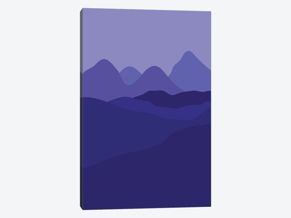 Purple Country by Martina Pavlova 1-piece Canvas Art Print