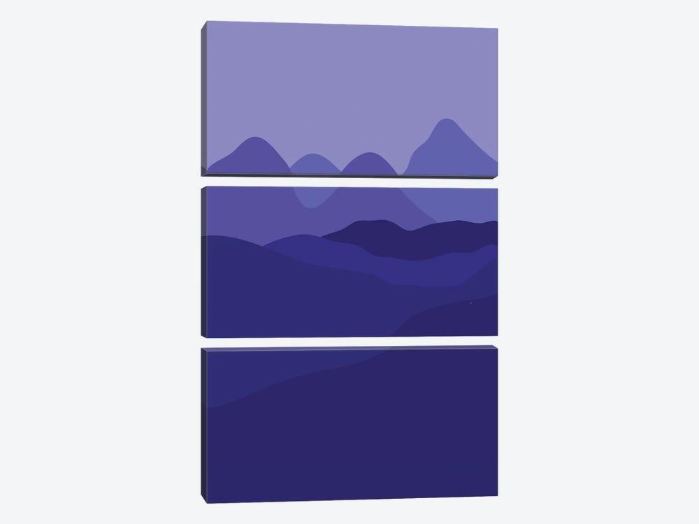 Purple Country by Martina Pavlova 3-piece Canvas Print
