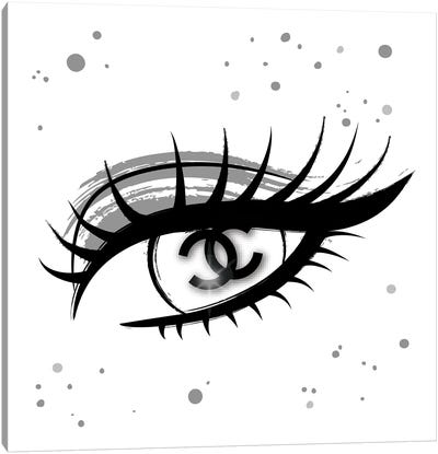 Chanel Eye Canvas Art Print