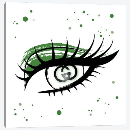 Gucci Eye Canvas Print #PAV740} by Martina Pavlova Canvas Artwork