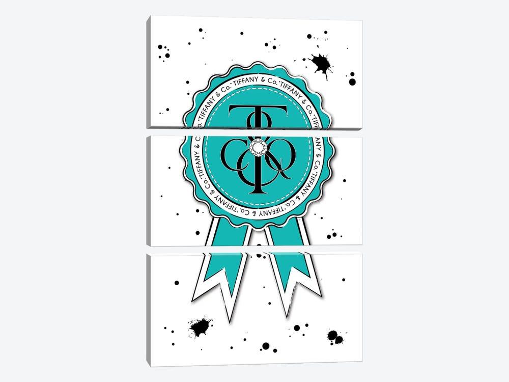 Tiffany & Co. Badge by Martina Pavlova 3-piece Canvas Wall Art