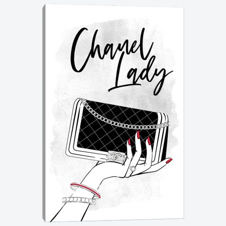 Hold My Chanel Canvas Print #PAV751} by Martina Pavlova Art Print