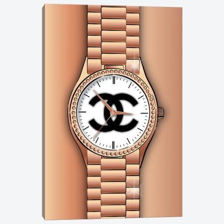 Chanel Watch Canvas Print #PAV754} by Martina Pavlova Canvas Art