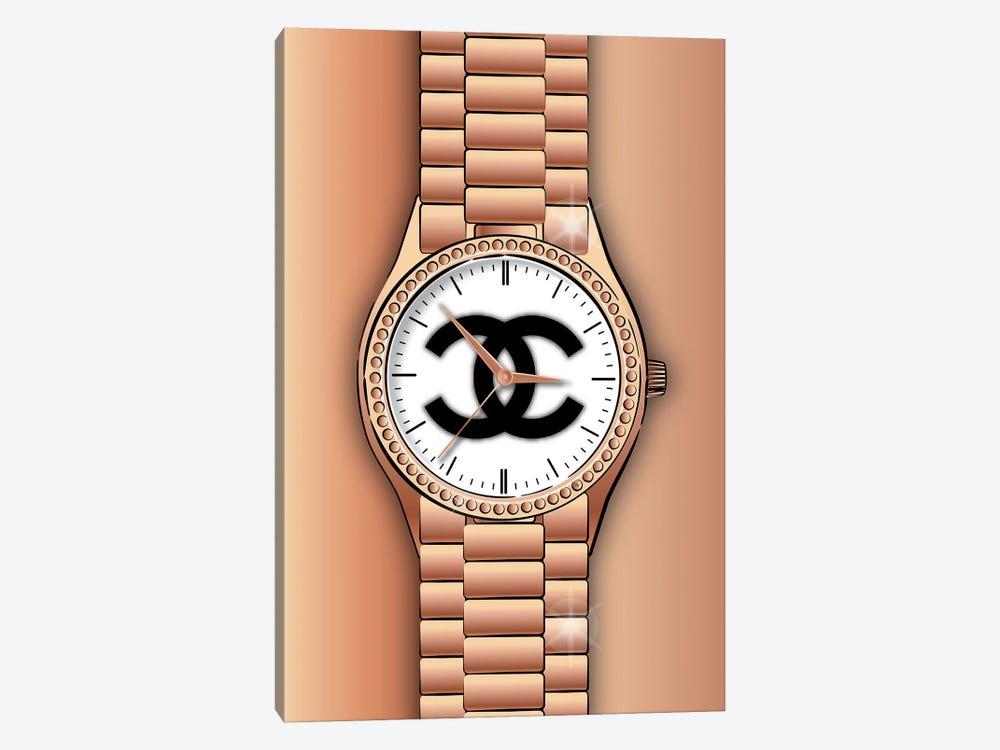 Chanel Watch by Martina Pavlova 1-piece Canvas Wall Art