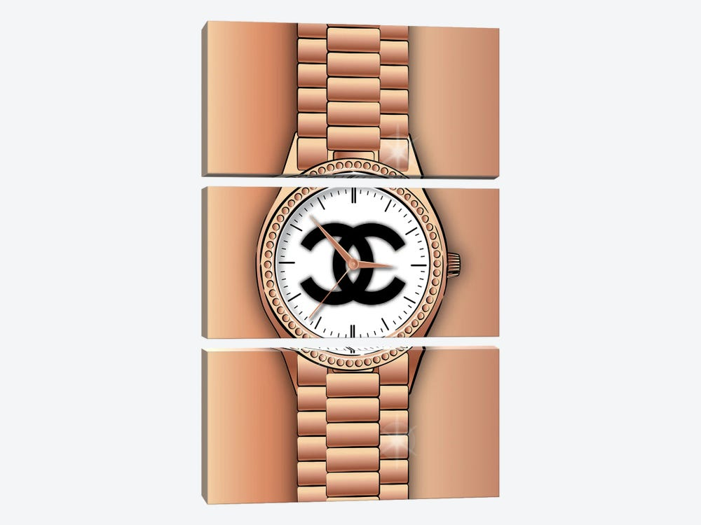Chanel Watch by Martina Pavlova 3-piece Canvas Art