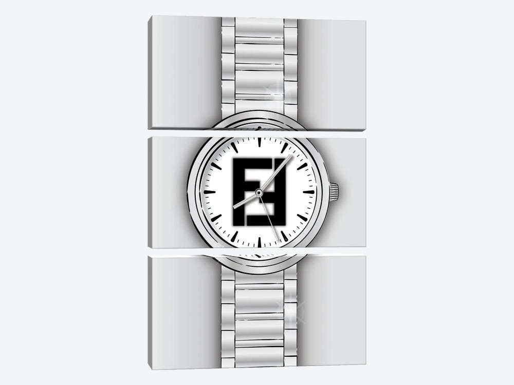 Fendi Watch by Martina Pavlova 3-piece Canvas Print