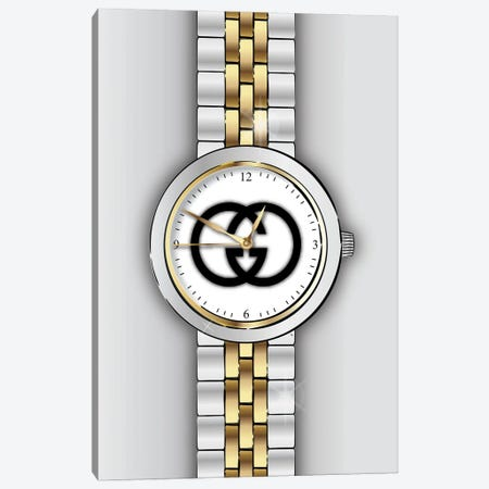 Gucci Watch Canvas Print #PAV756} by Martina Pavlova Canvas Artwork