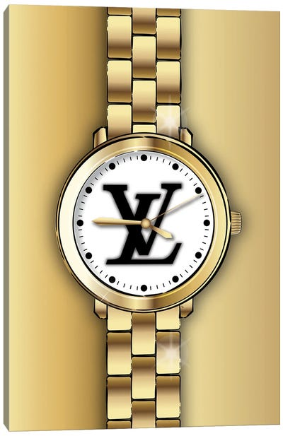 Louis Vuitton Watch Canvas Art Print