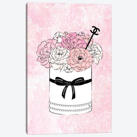 Flower Bow Chanel 3-Piece Canvas #PAV75} by Martina Pavlova Canvas Art