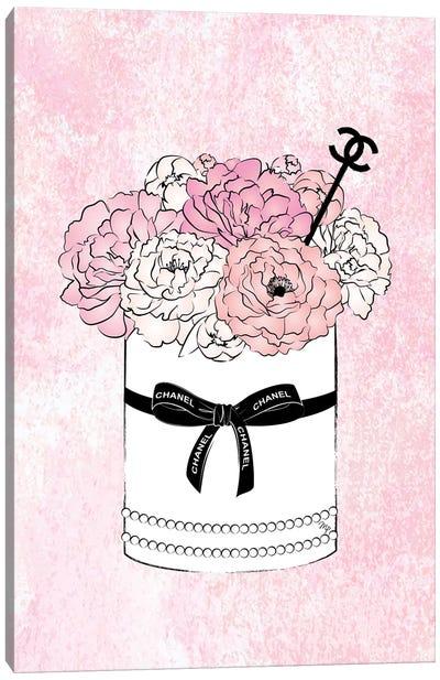 Flower Bow Chanel Canvas Art Print