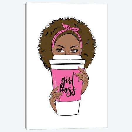 Girl Boss Coffee Canvas Print #PAV765} by Martina Pavlova Canvas Art Print
