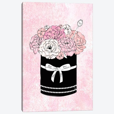 Flower Bow Dior 3-Piece Canvas #PAV76} by Martina Pavlova Canvas Wall Art