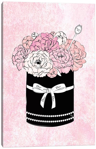 Flower Box Dior Canvas Art Print