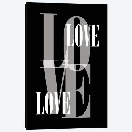 Black Love Canvas Print #PAV771} by Martina Pavlova Canvas Art Print