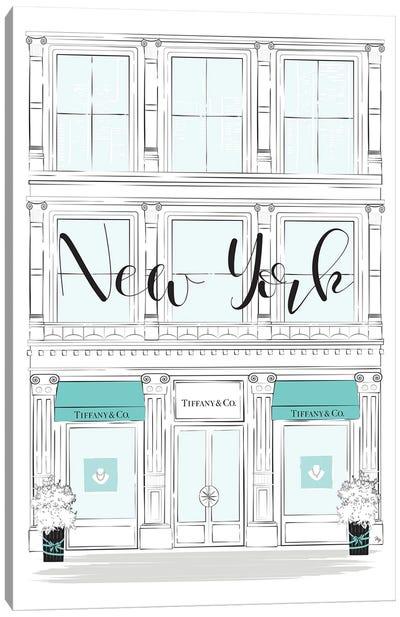 New York Tiffany Shop Canvas Art Print