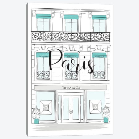 Paris Tiffany Shop Canvas Print #PAV774} by Martina Pavlova Canvas Wall Art