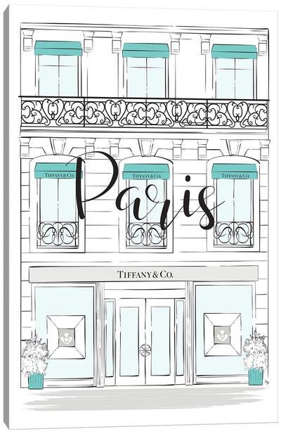 Paris Tiffany Shop Canvas Art Print