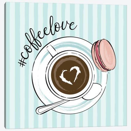 Cup Of Coffee Love Canvas Print #PAV775} by Martina Pavlova Canvas Artwork