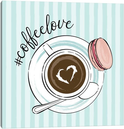 Cup Of Coffee Love Canvas Art Print
