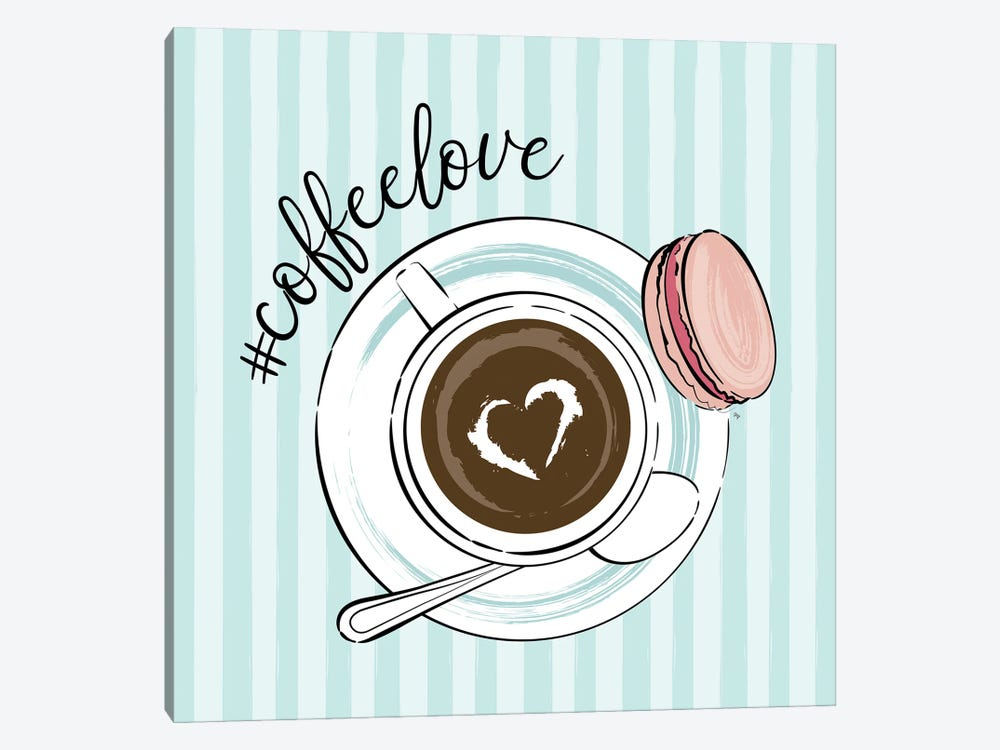 Cup Of Coffee Love by Martina Pavlova 1-piece Art Print