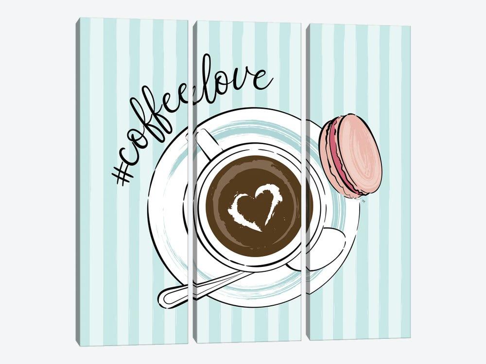 Cup Of Coffee Love by Martina Pavlova 3-piece Canvas Art Print