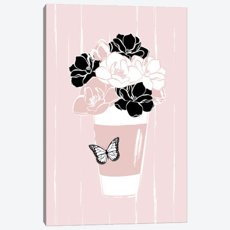 Pink Flower Bouquet Canvas Print #PAV782} by Martina Pavlova Canvas Art