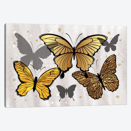 Golden Butterflies Canvas Print #PAV785} by Martina Pavlova Canvas Art Print