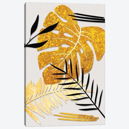 Golden Leaves Canvas Print #PAV786} by Martina Pavlova Art Print