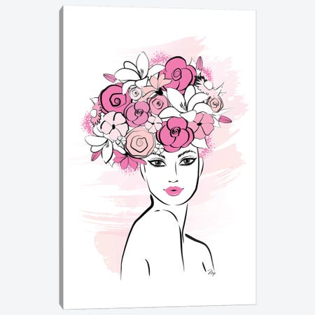 Flower Girl Canvas Print #PAV78} by Martina Pavlova Art Print