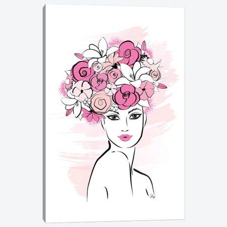 Flower Girl Canvas Print #PAV78} by Martina Pavlova Art Print