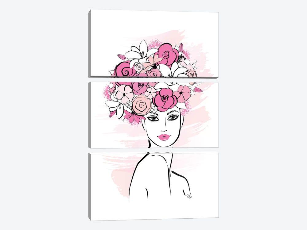 Flower Girl by Martina Pavlova 3-piece Canvas Artwork