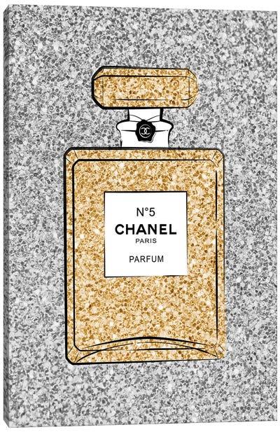 Chanel Glitter Perfume Canvas Art Print