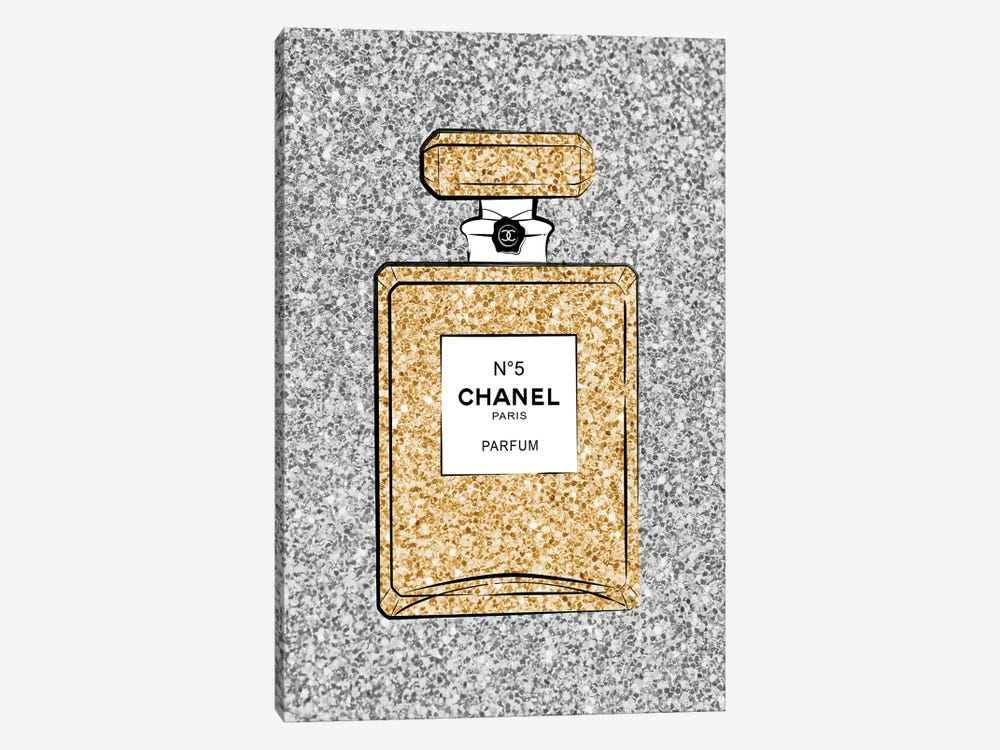 Chanel Glitter Perfume by Martina Pavlova 1-piece Canvas Print