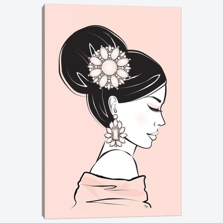 Geisha I Canvas Print #PAV79} by Martina Pavlova Canvas Art Print