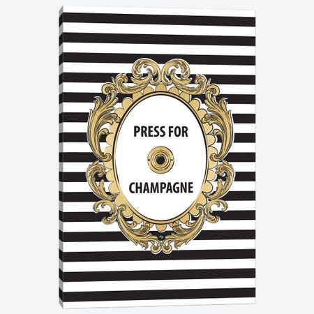 Champagne Button Canvas Print #PAV7} by Martina Pavlova Canvas Art Print