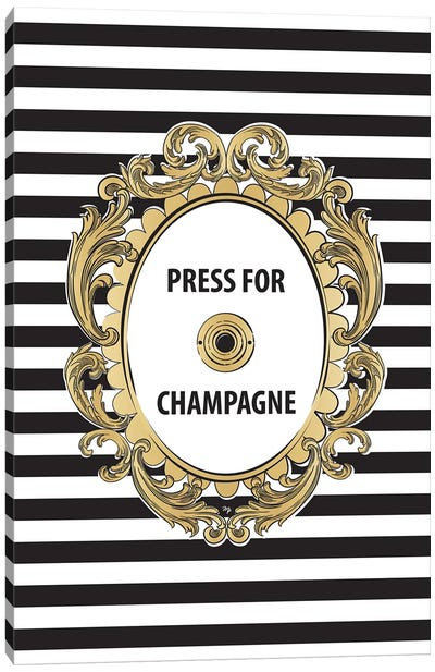 Champagne Button Canvas Art Print