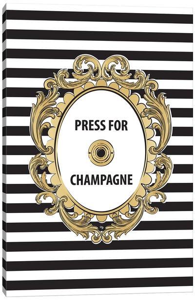 Champagne Button Canvas Art Print