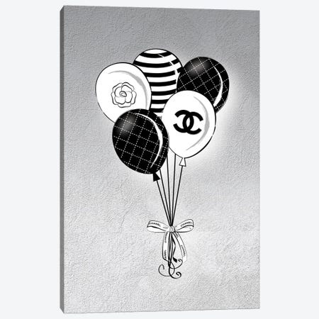 Chanel Balloons Canvas Print #PAV801} by Martina Pavlova Art Print