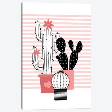 Pink Set One Canvas Print #PAV812} by Martina Pavlova Canvas Artwork