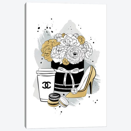 Chanel Romance Canvas Print #PAV816} by Martina Pavlova Canvas Print