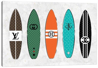Pastel Designer Surfs Canvas Art Print