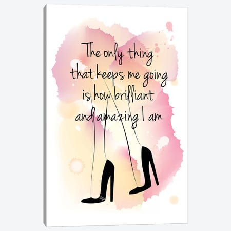Girl Boss Quote Canvas Print #PAV81} by Martina Pavlova Canvas Wall Art