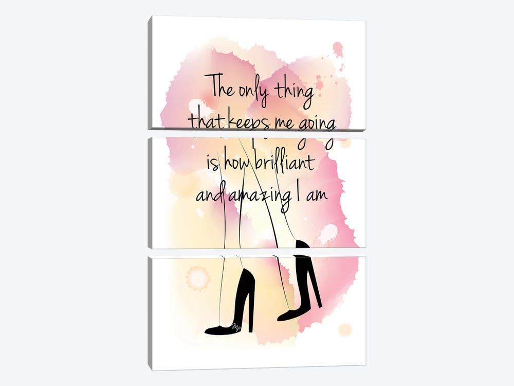 Girl Boss Quote by Martina Pavlova 3-piece Canvas Art