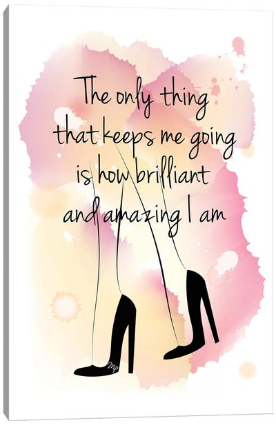 Girl Boss Quote Canvas Art Print